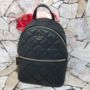 Natalia Mini Convertible Backpack Black Kate Spade Crossbody Leather Authentic